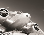 Vintage Airplane Photos - Retired Electra by Marley Holman