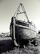 Old Town Digital Art Acrylic Prints - Retired fishing boat Acrylic Print by Sharon Lisa Clarke