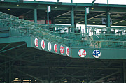 Red Sox Framed Prints - Retired Numbers Framed Print by Paul Mangold