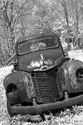 Old Pick Up Prints - Retired Rusty Relic Print by John Stephens