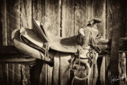 Saddle Art - Retired Saddle by Christine Hauber
