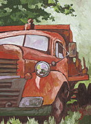 Route 66 Paintings - Retired by Sandy Tracey