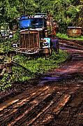 Logging Camp Prints - Retired Semi Truck Print by David Patterson