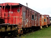 Old Caboose Photos - Retired Steam Trains by The Art With A Heart By Charlotte Phillips