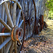 Wagon Wheels Photos - Retired Wagon Wheels by Donna Spadola