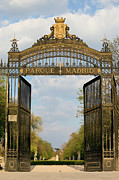 Municipal Prints - Retiro Park Entrance in Madrid Print by Artur Bogacki