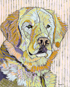 Dog Portraits Posters - Retrieving Winter Poster by David  Hearn