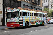 Trollies Photos - Retro 60s San Francisco Haight Ashbury Magic Bus - 5D17923 by Wingsdomain Art and Photography