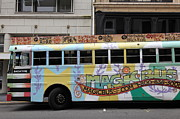 Trollies Photos - Retro 60s San Francisco Haight Ashbury Magic Bus - 5D17924 by Wingsdomain Art and Photography