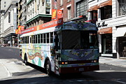 Trollies Photos - Retro 60s San Francisco Haight Ashbury Magic Bus - 5D18009 by Wingsdomain Art and Photography