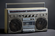 Boom Box Framed Prints - Retro Analog Boom Box Framed Print by Timothy Hughes