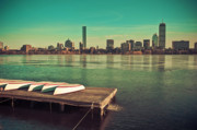 Focused Framed Prints - Retro Boston Framed Print by Andrew Kubica