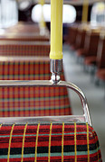 Pole Prints - Retro Bus Seats Print by Richard Newstead