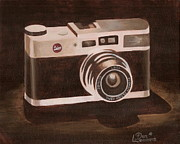 Camera Painting Posters - Retro Camera Poster by Dan Leamons