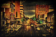Paper Valley Hotel Prints - Retro College Avenue Print by Joel Witmeyer