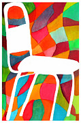 Kitchen Chair Paintings - Retro Dinette Chair by Paula Ayers