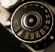 Aperture Digital Art - Retro film dial by Mike Ricci
