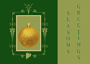 Christmas Cards Art - Retro Holidays 2 by Joann Vitali