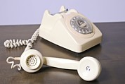 Home Appliance Posters - Retro Home Telephone Poster by Photostock-israel