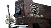 Sun Studio Photos - Retro Memphis Street by Rebecca Brittain