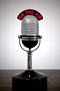 Microphone Photos - Retro microphone  by Richard Thomas