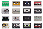 Tape Prints - Retro Music Cassette Print by Gualtiero Boffi