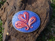Mosaic Jewelry - Retro Paisley Mosaic Belt Buckle by Katherine Sutcliffe