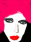 Retro Pink Print by Ruth Clotworthy