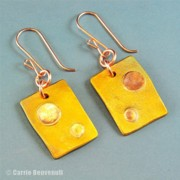 America Jewelry - Retro Rectangles Earrings by Carrie Benvenuti