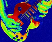 Live Music Prints - Retro Rock Print by Chris Berry