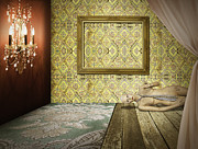 Hotel-room Prints - Retro Room Interior Print by Setsiri Silapasuwanchai