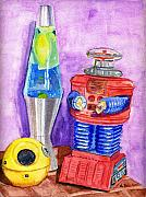Life In Space Prints - Retro Toys Print by Lynne Reichhart