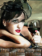 Portraits Art - Retro Woman by James Shepherd