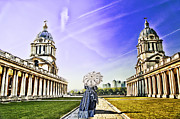 Royal Naval College Metal Prints - Return from the past. Metal Print by Ludmila Nayvelt