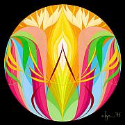 Meditation Paintings - Return to Center by Angela Treat Lyon