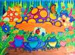 Childrens Art Drawings - Return to Happy Frog Meadow by Nick Gustafson
