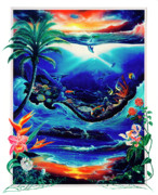 Spirit Dolphins Posters - Return to paradise Poster by Sevan Thometz