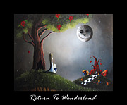 Alice In Wonderland Painting Metal Prints - Return To Wonderland by Shawna Erback Metal Print by Shawna Erback