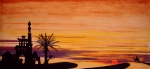 Yvonne Ayoub Art - Returning by Sunset by Yvonne Ayoub