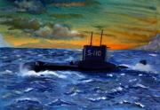 Warship Painting Posters - Returning Home Poster by Kostas Koutsoukanidis