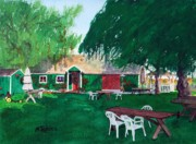 Tasting Paintings - Retzlaff Winery by Mike Robles
