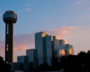 Hyatt Hotel Posters - Reunion Tower  Poster by John Kain