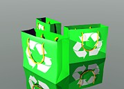 Digitally Generated Image Art - Reusable Shopping Bags, Artwork by Victor Habbick Visions