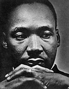African-american Metal Prints - Rev. Martin Luther King Jr. 1929-1968 Metal Print by Everett