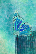 Insect Digital Art Posters - Reve de Papillon - s02a2 Poster by Variance Collections