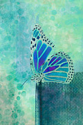 Aqua Digital Art - Reve de Papillon - s02b by Variance Collections