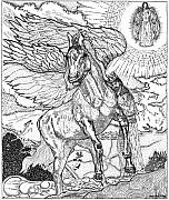 Angel Drawings - Revelation   Return Of The King by Glenn McCarthy Art and Photography