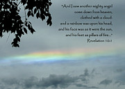 Angel Blues Photos - Revelation 10 Rainbow by Cindy Wright