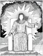 Jesus Drawings Prints - Revelation 20 Print by Glenn McCarthy Art and Photography