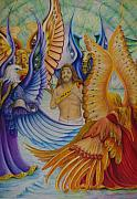 Religious Art Mixed Media Originals - Revelation Five by Rick Ahlvers
